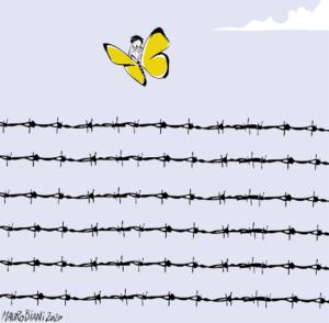 """Giornata della Memoria. """"Che la farfalla gialla voli sempre sopra i fili spinati"""""""