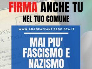 """""""No alla propaganda fascista"""". Al via raccolta firme per iniziativa di legge popolare"""