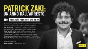 Patrick Zaki, l'adesione di Articolo21 Emilia-Romagna alle manifestazioni per l'anniversario dell'arresto