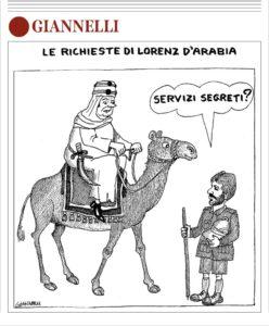 Emilio Giannelli, il geniale vignettista ha incontrato il suo Lorenz d'Arabia