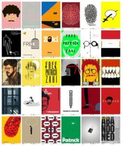 30 manifesti per Zaki. Oltre i muri dell'odio, i ponti colorati della coscienza
