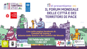 Forum Mondiale delle città e dei territori di pace. 10 febbraio la presentazione