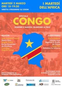 Congo. Rompere il silenzio, rilanciare la pace. 2 Marzo ore 18
