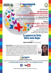 Parlare di diritti umani l'otto marzo. L'appuntamento dell'Università della pace delle Marche