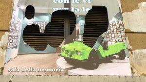 Fondazione Polis, distrutto pannello raffigurante la Sala della Memoria dedicata alle vittime innocenti della criminalità