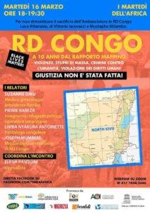 Congo – Giustizia non è stata fatta! Martedì 16 marzo incontro online