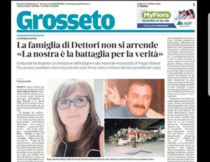 Delusione e tristezza per archiviazione indagine su morte maresciallo Dettori