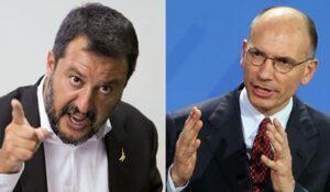 Letta scarica Salvini dal governo