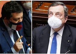 """""""Guerriglia"""" di Salvini contro Draghi"""