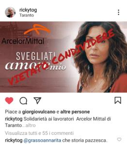 Taranto, licenziato per aver condiviso un post
