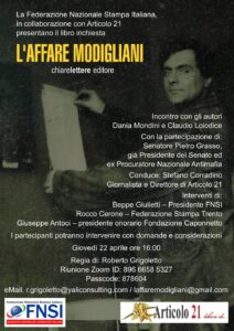 """""""L'Affare Modigliani"""". Cento anni di trame, crimini e misteri intorno al pittore italiano del '900 più conosciuto e più' pagato del mondo"""