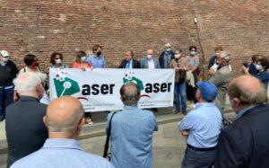 Giornalisti in piazza a Bologna, Aser e Fnsi: «Il tempo sta scadendo, il governo ci ascolti»
