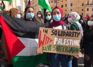 Le città italiane unite per la Palestina, in mille al presidio di Roma