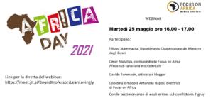 Africa Day 2021, oggi alle 16 webinar promosso da Focus on Africa con le voci del continente