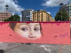 Un murale inaugurato il 15 maggio a Napoli. con Noemi e per Noemi, ma anche per tutti noi