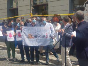 In piazza a Roma per #freePatrickZaki e per una Rai libera dai condizionamenti