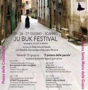 Al via il 25 giugno Ju Buk, festival di letteratura di Scanno. Madrina della serata inaugurale Antonella Napoli
