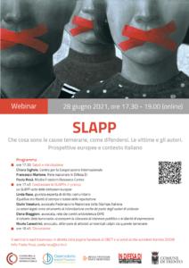 Il 28 giugno seminario sulle SLAPP, le azioni usate per zittire le voci critiche