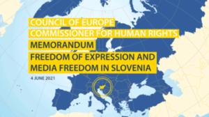Libertà di stampa in Slovenia: l'allarme del Consiglio d'Europa
