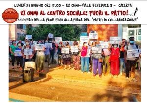 """Fuori il Patto di Collaborazione per l'Ex Onmi di Caserta: """"21 giugno convochiamo un nuovo presidio"""""""
