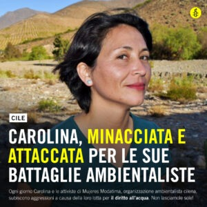 Amnesty aiuta Carolina a difendere l'acqua pubblica in Cile