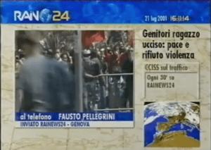 Genova 2001: il ricordo di chi era a Rainews24 con Roberto Morrione