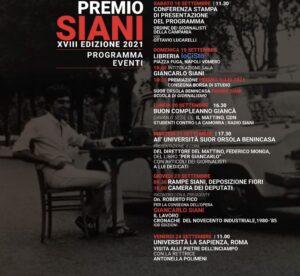 """Informazione. al via le """"Giornate con Giancarlo"""" e Premio Siani 2021 XVIII edizione"""