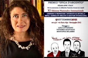 """La """"Spiga d'argento"""" ad Antonella Napoli. Omaggio a Luca Attanasio alla presenza della moglie"""