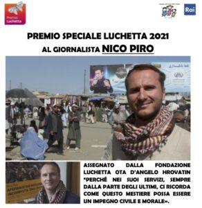 Premio Speciale Luchetta 2021 al giornalista Nico Piro