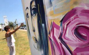 Latina ricorda Ilaria Alpi e Miran Hrovatin con due murales di Alessandra Chicarella