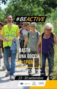 #BeActive: anche lo sportpertutti Uisp per la Settimana Europea dello Sport
