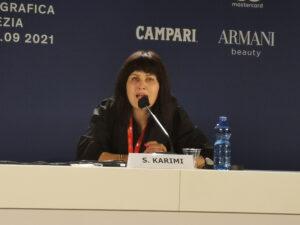 "Venezia 2021. Sahraa Karimi al Panel sull'Afghanistan: ""Per capire cosa succede ripensate a Schindler's List"""