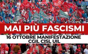 'Mai più fascismi', la Fnsi in piazza con Cgil Cisl e Uil. Lorusso: «Al fianco di chi difende la Costituzione»