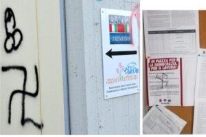 Svastiche e vandalismi contro sedi ANPI e Fiom CGIL Trento